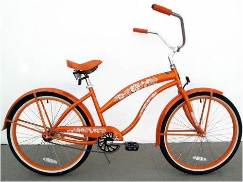 GreenLine Beach Cruiser Bicycle - BC106 Women's Orange