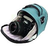 VG Sky Blue Laurel DSLR Camera Carrying Bag with Removable Shoulder Strap for Nikon D3200 Digital SLR Camera