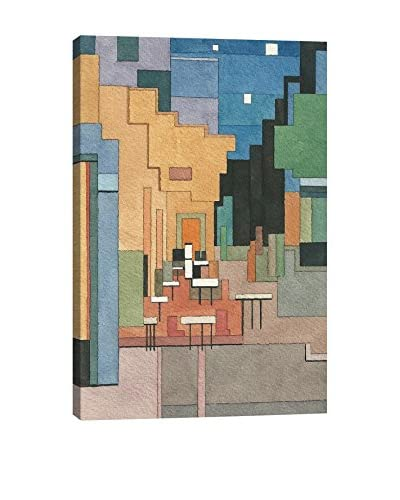 Adam Lister Gallery Cafe Terrace At Night Wrapped Canvas Print
