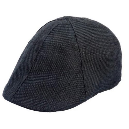 58 or 60cm (Elasticated Rim) Straw Look Flat Cap in a selection of Colours