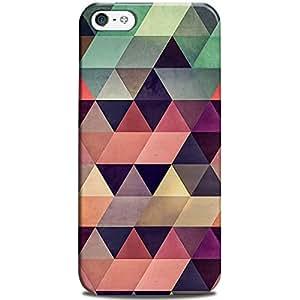 CASE U Back Cover Triangular Colorful Pattern Designer Case for Apple iPhone 5C