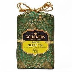 Golden Tips Lemon Green Tea Brocade Bag (100g)