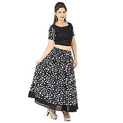 AnjuShree Choice Women's Cotton Lehenga Cholis Style Kurta Kurti (Medium)