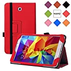 WAWO Samsung Galaxy Tab 4 8.0 Inch Tablet Smart Cover Creative Folio Case - Red