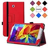 WAWO Samsung Galaxy Tab 4 8.0 Inch Tablet Smart Cover Creative Folio Case - Red