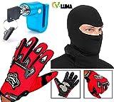 V-Luma Combo of Biker Gloves with Disk Lock & Face Mask VLMCOM0503