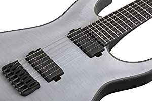 Schecter KM-7 Keith Merrow Artist Model Solid-Body Electric Guitar, Trans White Satin from SCHAM