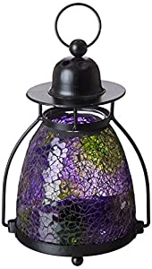 Gift Craft 9-Inch Mosaic Glass and Metal Tea Light Lanterns, Small (Discontinued by Manufacturer)