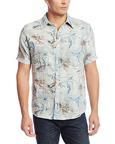 Margaritaville Men's Fish People Short Sleeve Shirt