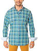 VICKERS Camisa Hombre Harvard (Turquesa)