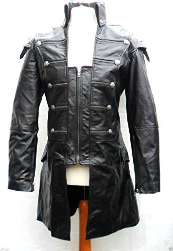 Mens-Black-Rock-Gothic-Steampunk-Punk-Jacket