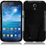 Samsung Galaxy Mega 6.3 Phone Case Accessory Charming Black Dual Protection Impact Hybrid Cover with Free Gift Aplus Pouch