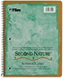 TOPS Second Nature Notebook, 8.5 x 11 Inch, Quadrille Ruled, Recycled, 80 Sheets, Assorted Colors (74112)