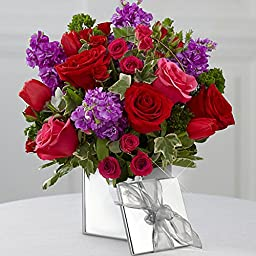 Floral Garden - Vase Included - Eshopclub Online Fresh Flowers Roses - Anniversary Flowers - Wedding Flowers Bouquets - Birthday Flowers - Send Flowers