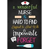 A Wonderful Nurse Is: Hard to find Difficult to Part with & impossible to Forget: Great as Nurse Journal/Organizer/Practitioner Gift or Nurse Graduation Gift (Nurse Notebooks & Gifts) (Volume 1)