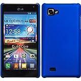 Hardcase LG Optimus 4X HD P880 - Blau - PhoneNatic Hard Case Cover Hülle Schutzhülle + Schutzfolie