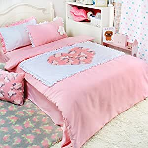 brandream girls kids bedding set pink rose bed
