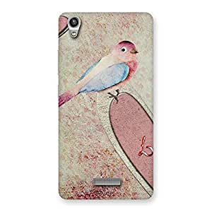 Special Bird Heart Drawing Back Case Cover for Lava-Pixel-V1