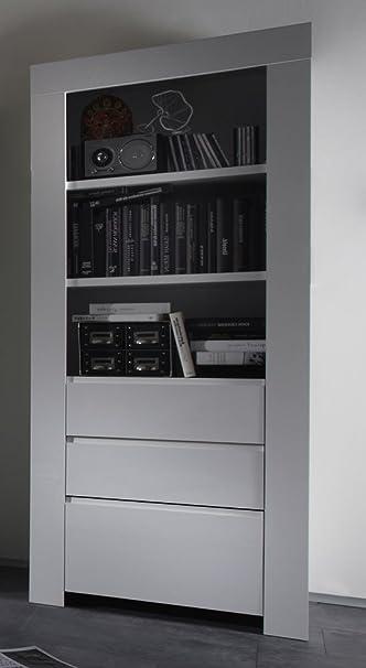 Colonna/libreria moderna con cassetti, di design, Alba