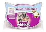 Whiskas Junior Knusper-Taschen Milch-Kätzchen, 8 Packungen (8 x 55 g) -
