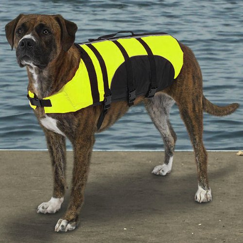 Guardian Gear Aquatic Pet Preserver - Life Jacket for Dogs - Yellow - Large