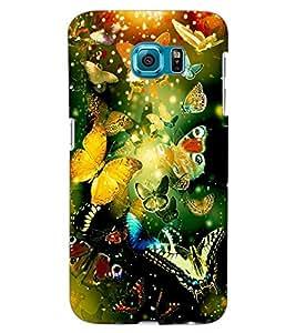 ColourCraft Beautiful Butterflies Design Back Case Cover for SAMSUNG GALAXY S6 EDGE G925