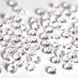 1000pcs Clear Acrylic Diamond Confetti For Wedding Decoration 10mm 4 CT Diamond Confetti Table Scatter
