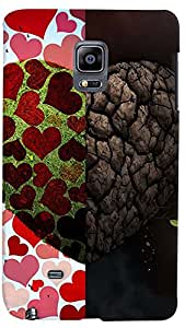 PrintVisa Love Heart Sort Hard Case Cover for Samsung Galaxy Note Edge