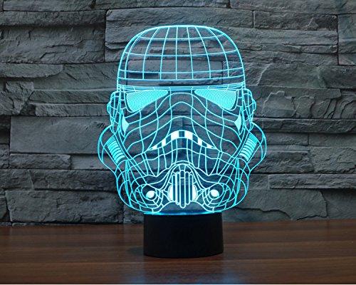 alisable 3D Lampe Star War Soldier Wecken bb-8Night 7Farbe ändern Best Geschenk Nachtlicht LED Einrichten Schreibtisch Tisch Beleuchtung Home Dekoration Spielzeug