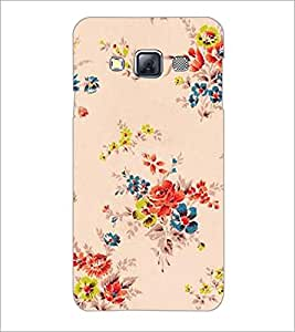 PrintDhaba Floral Pattern D-2339 Back Case Cover for SAMSUNG GALAXY A3 (Multi-Coloured)