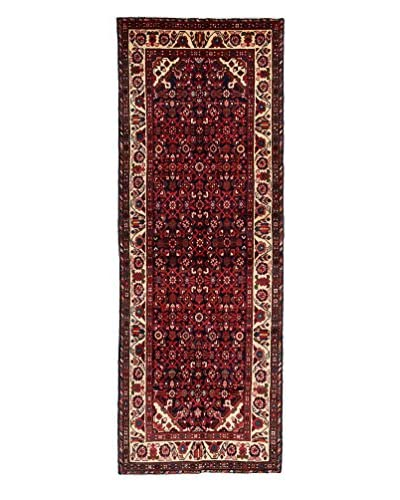 Darya Rugs Authentic Persian Rug, Black, 3' 9 x 10' 1 Runner
