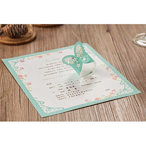Wishmade scroll laser cut wedding invitations cards blue for 3d printer wedding invitations