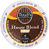 Tully's Coffee Decaffeinated House Blend, K-Cup Portion Pack for Keurig K-Cup Brewers 24-Count