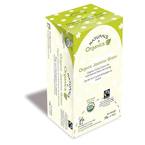 Naturals-N-Organics Jasmine Green Tea Bags, 25 Count (Pack Of 10)