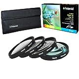Polaroid 52mm Close-Up Makrolinsen Nahlinsen 4-Stück-Filterset für Makrofotografie - Inklusive +1 +2 +4 +10 - und Filtertasche
