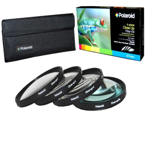 Polaroid Optics Ensemble de 4 filtres gros plan 67 mm (+1, +2, +4, +10)