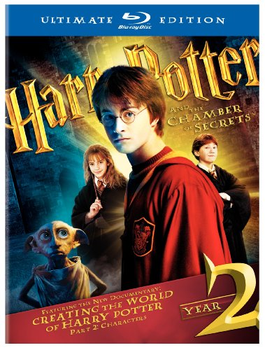 Cover art for  Harry Potter and the Chamber of Secrets (Three-Disc Ultimate Edition) [Blu-ray]