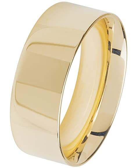 Wedding Ring Cross Section 9ct Gold Flat Court 8mm/1.8mm