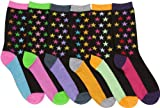 Sakkas Womens Fun Colorful Design Poly Blend Crew Socks Assorted 6-Pack