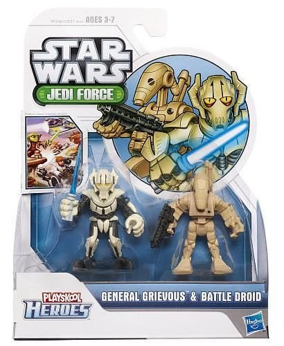 Playskool Heroes, Star Wars, Jedi Force Figures, General Grievous and Battle Droid