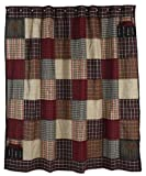Shower curtain ashfield primitive country rustic willow tree