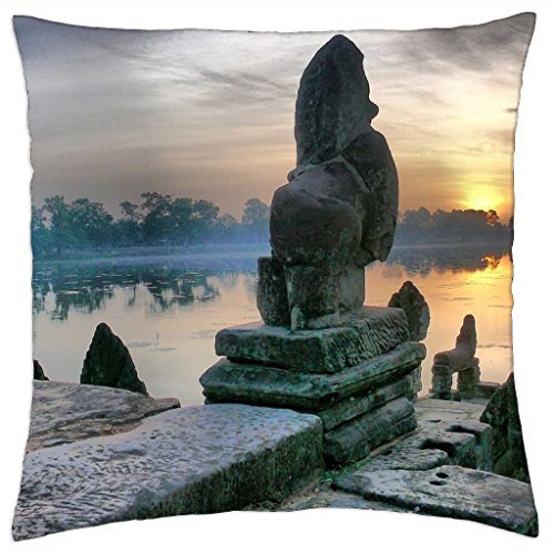 Statues at Sunset - Throw Pillow Cover Case (18