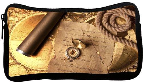 Rikki Knighttm Vintage Navigation Compass Map And Telescope Neoprene Pencil Case
