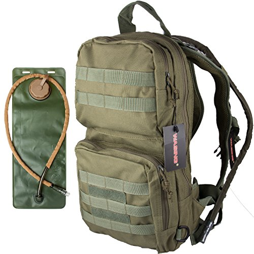 WASING Hydration Pack with 3L Bladder and 2