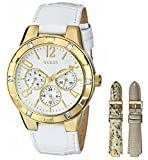 GUESS Women's Gold-Tone Glimmering Sport Watch Box Set