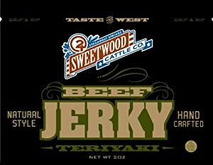 Sweetwood Jerky Teriyaki Flavor, 2-Ounce-Bag Multipack by Sweetwood Jerky Co.