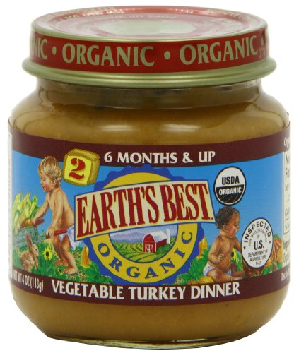 Earth'S Best Organic Stage 2, Vegetable Turkey Dinner, 4 Ounce (Pack Of 12)