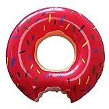 KEEDI strawberry lovely style gigantic large donut shaped pool float