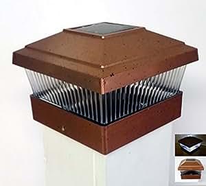 garden sun light solar powered 5x5 outdoor post cap copper model home garden. Black Bedroom Furniture Sets. Home Design Ideas