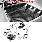 Partsam Universal Waterproof White LED Truck Bed/Rear Work Box Lighting Kit Trunk Light for 1994-2010 Dodge Ram 1500 2000 3500